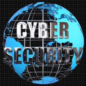 Globe with Cyber Security text